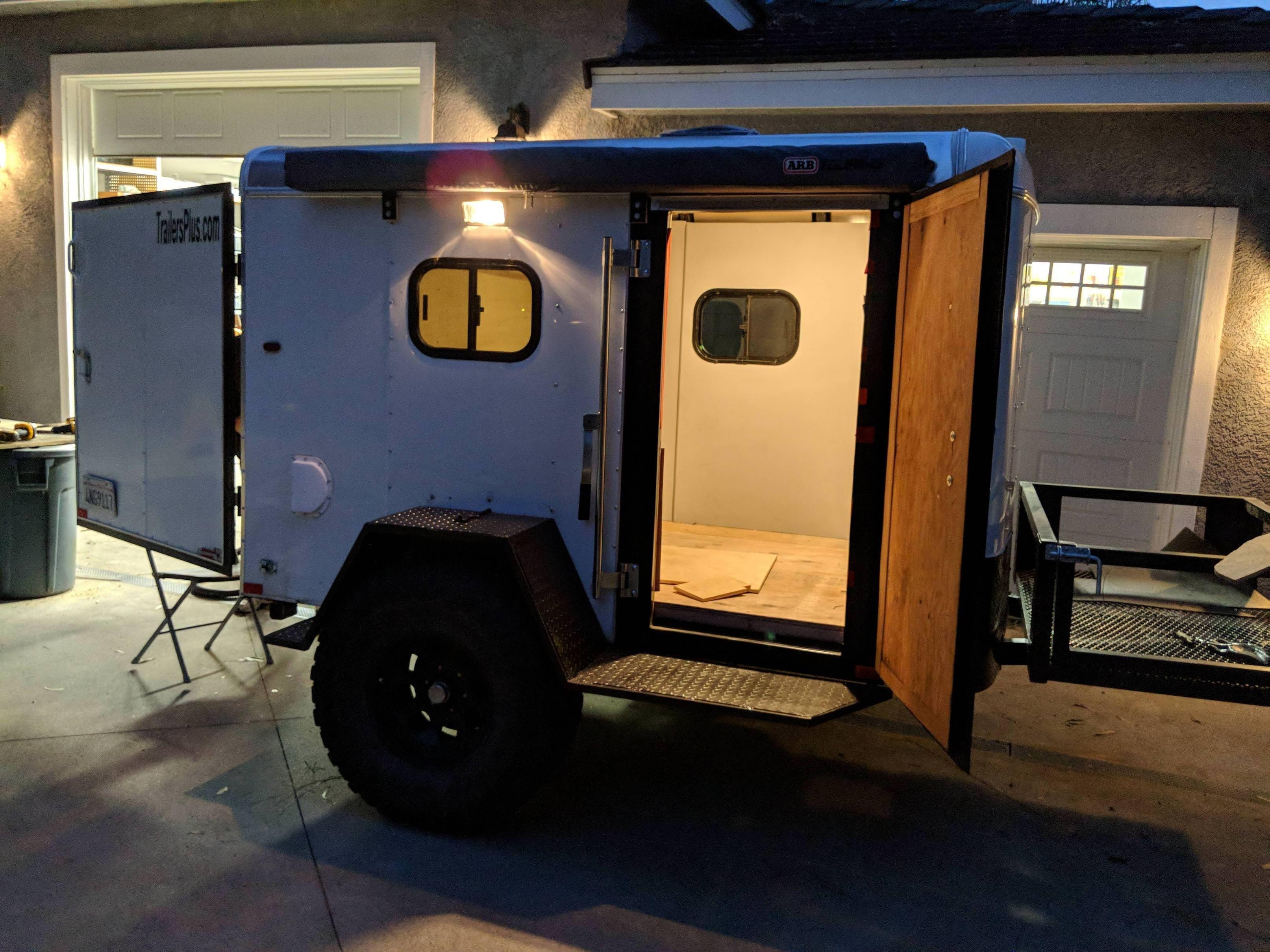 30 Beautiful Picture of Cargo Trailer Camper Conversion ...