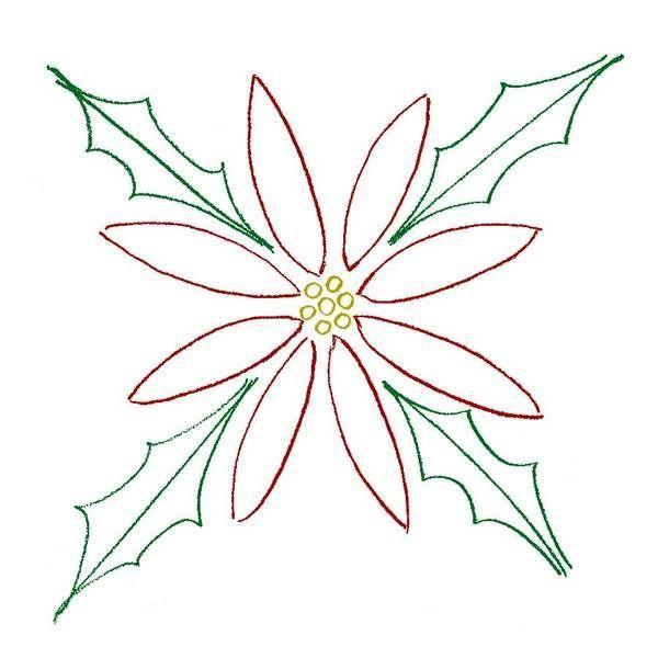 Dibujo de flores para colorear DE NOCHE BUENAS - Imagui ...