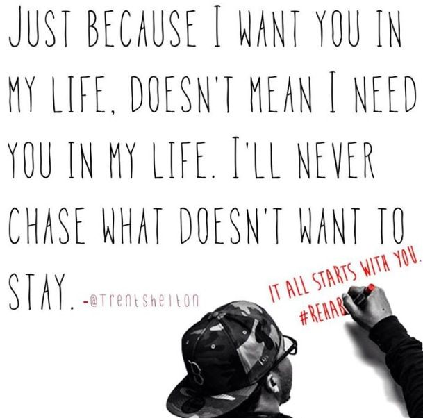 I'll never chase what doesn't want to stay | Just Don't Tell