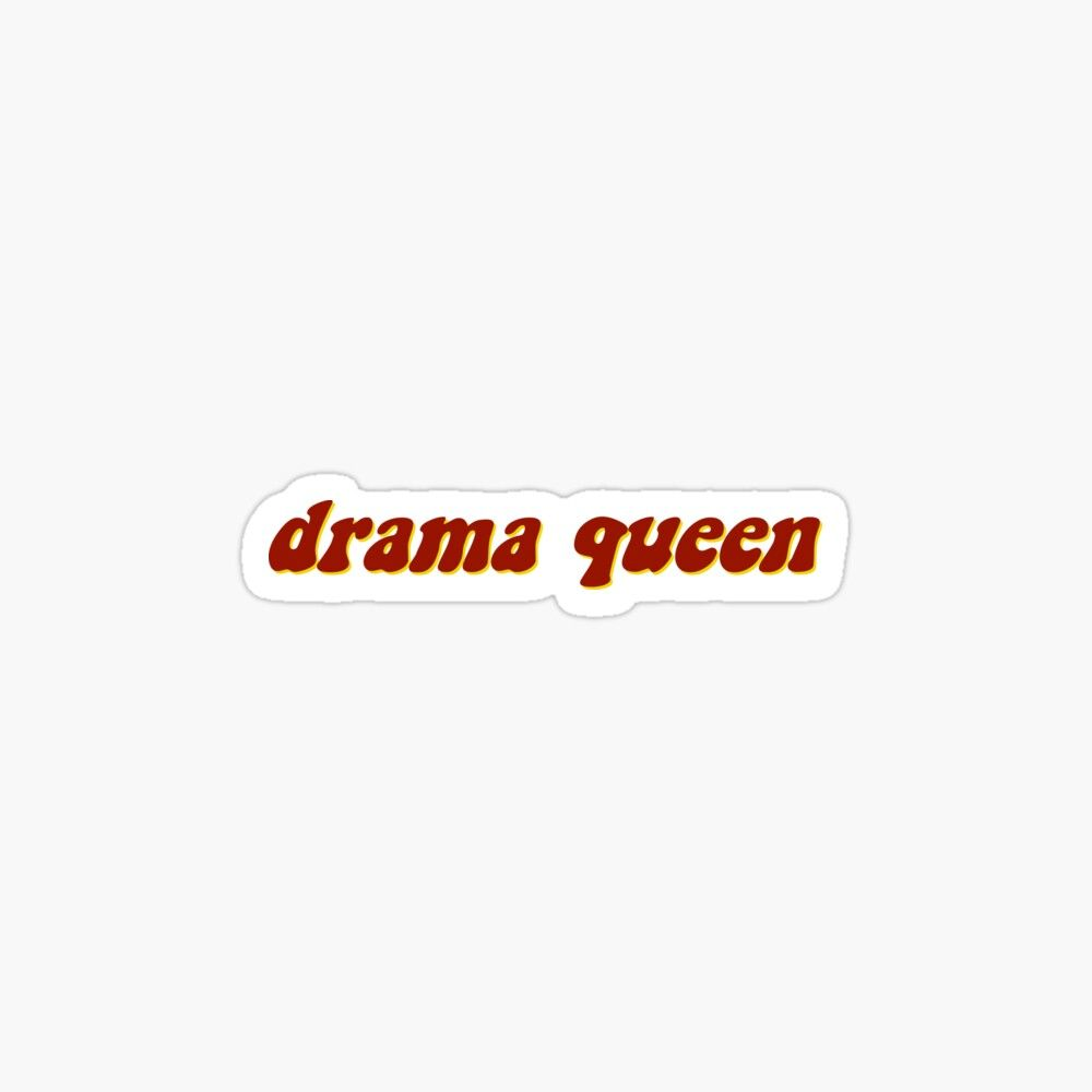 Drama Queen Fitted T Shirt By Papercatlab Art Collage Wall Lettering Aesthetic Stickers