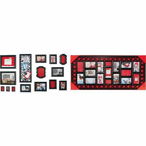15-Pc. Frame Set or 17-Opening Large Collage Frame Walmart black ...