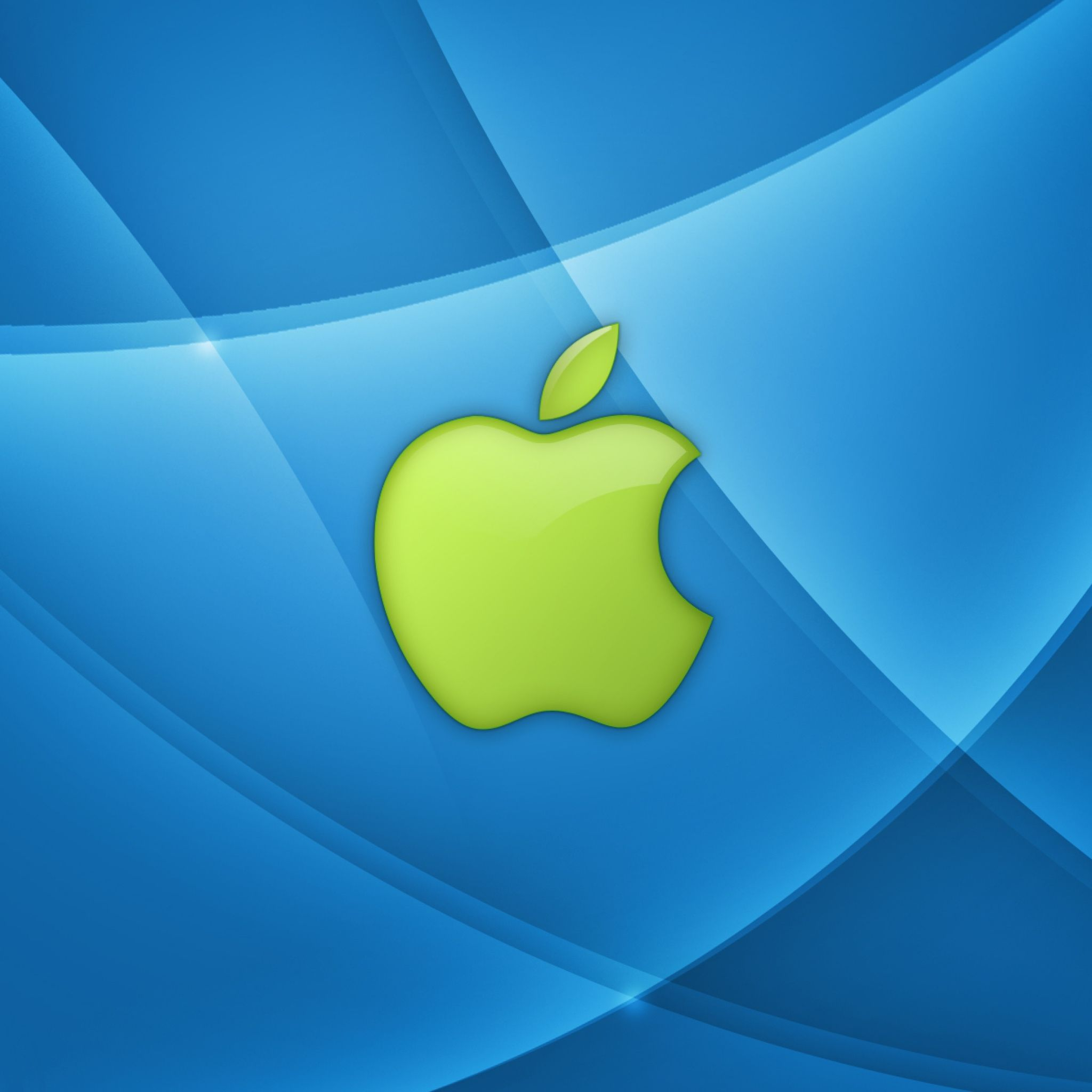 2048x2048 Wallpaper app store, apple, mac, blue, green