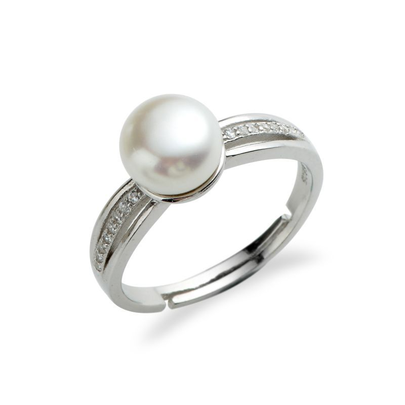 Mia Diamonds 925 Sterling Silver Polished Mother of Pearl Ring