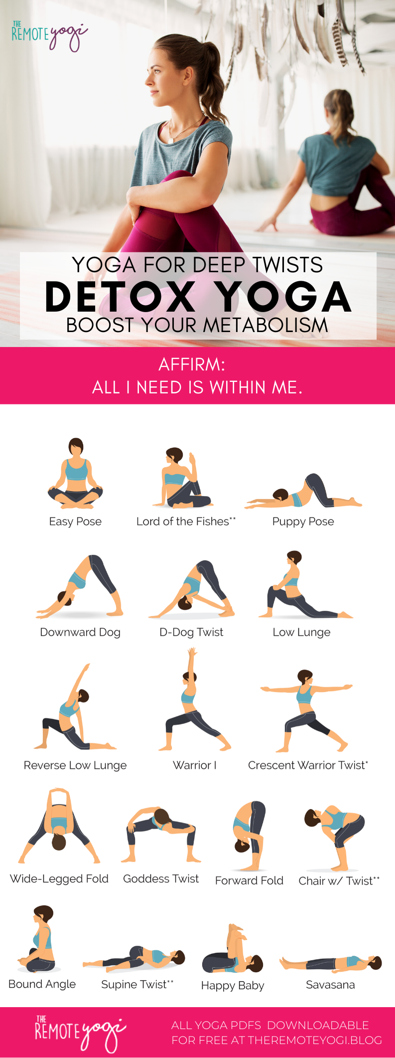 Detox with Yoga Twists – Free Printable PDF