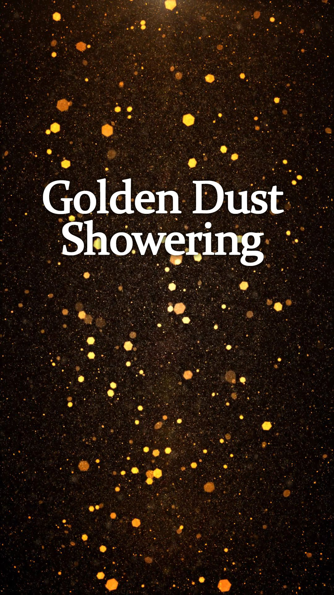 Golden dust showering video From Royalty Free Fooatges