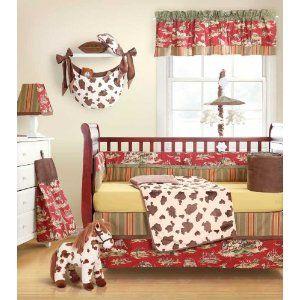 Geenny Western Horse Cowboy 13pcs Crib Bedding Set Com 3