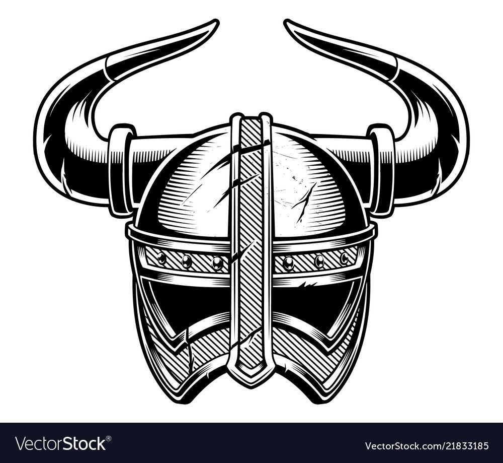 Viking helmet Royalty Free Vector Image VectorStock ,