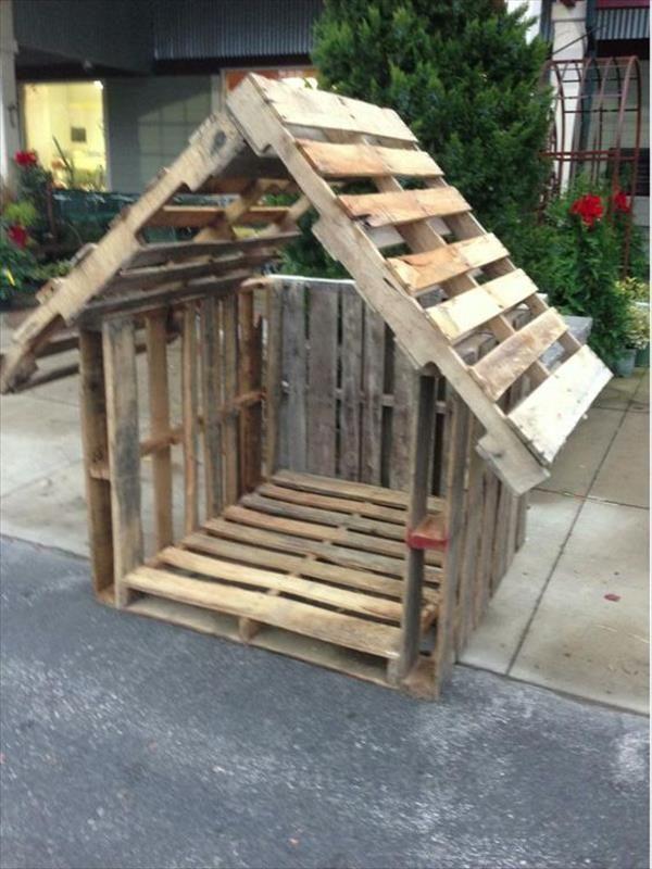 Stilvolle Paletten-Hundehütte-Entwürfe | Ideen für recycelte Paletten  - Garten - #für #Garten #Ideen #Paletten #PalettenHundehütteEntwürfe #recycelte #stilvolle #recyceltepaletten