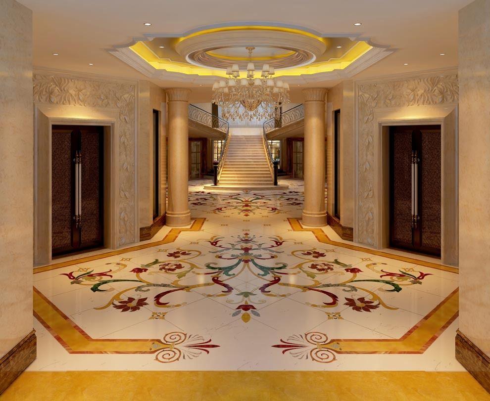 Marble Floor  Fabulous Design  No Footprints Please