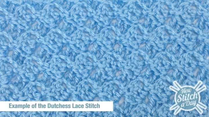 How to Crochet the Dutchess Lace Stitch
