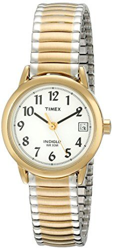 Amazon.com  Timex Women s T2H351 Easy Reader Gold-Tone Stainless Steel  Expansion Band 424e66d48ed