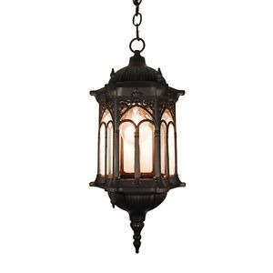 TP Lighting Black Finished Outdoor Hanging Lighting Light Fixture ...