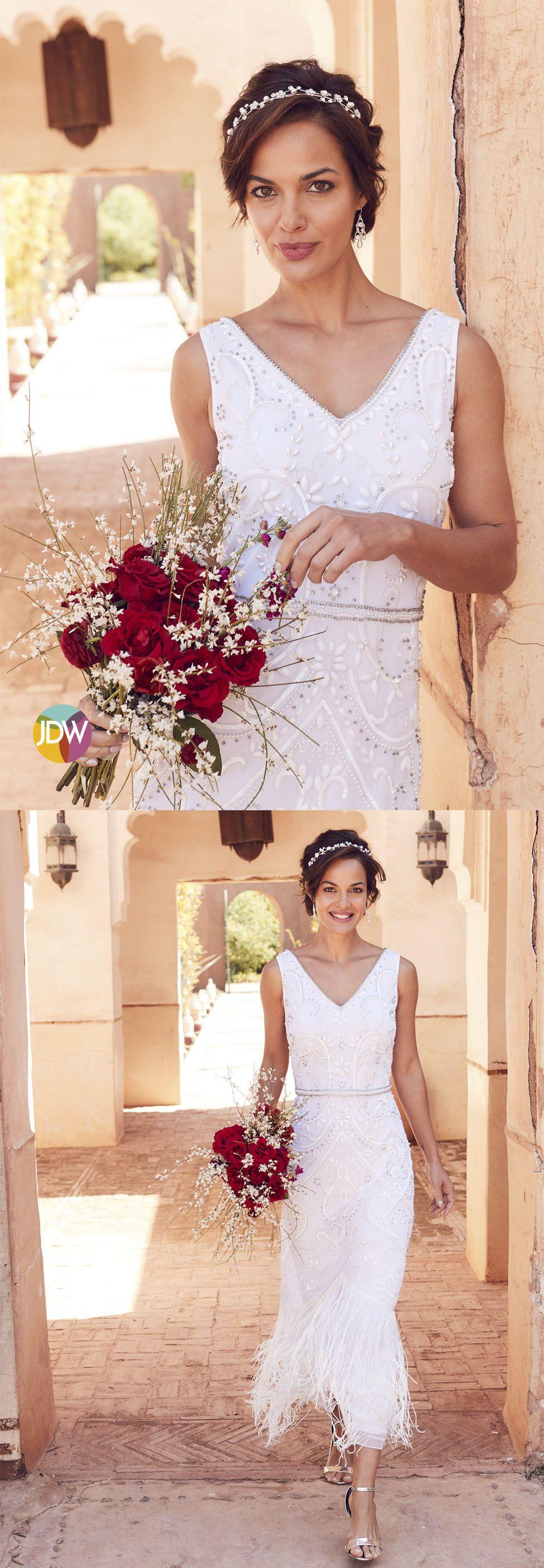 Joanna Hope Beaded Bridal Dress J D Williams Bridal Dresses Beaded Maxi Dress Dresses [ 2812 x 976 Pixel ]