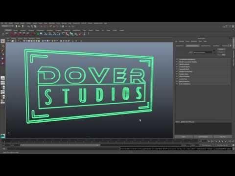 VFX Tip - Creating a 3D Logo in Maya from Adobe Illustrator Artwork - YouTube