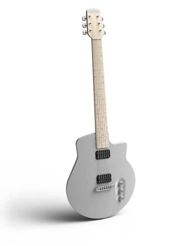 eduard juanola electric guitar made out of corian it takes advantage of corian 39 s vibrating. Black Bedroom Furniture Sets. Home Design Ideas