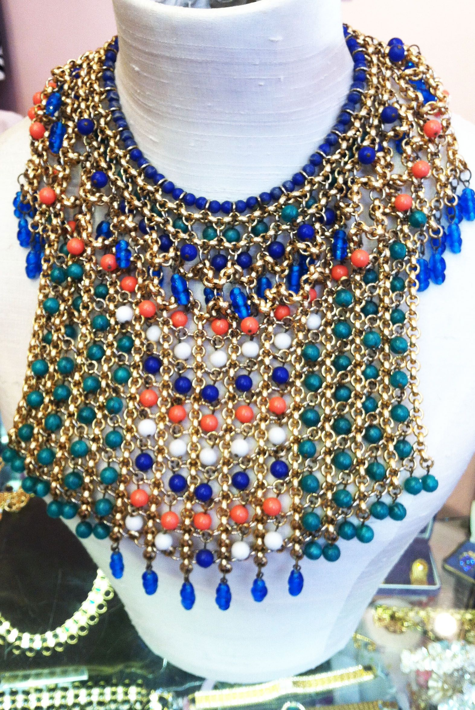 Goddy Jewelry : goddy, jewelry, Carnival, Inspiration, Jewelry, Beaded, Collar, Necklace,, Gaudy, Jewelry,