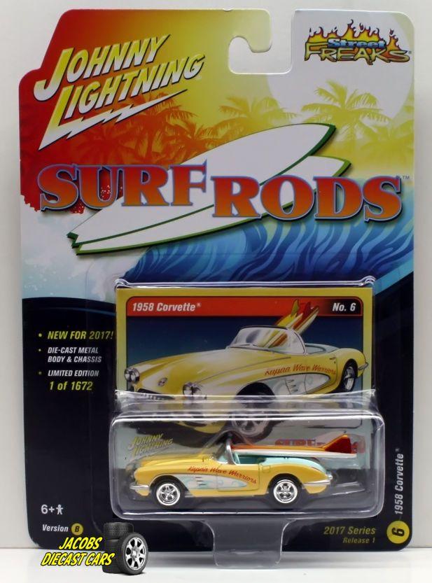 1 64 Johnny Lightning Street Freaks 2017 Release 1b 1958 Corvette Johnnylightning Chevrolet 1958 Corvette Hot Wheels Toys Ford Gt For Sale