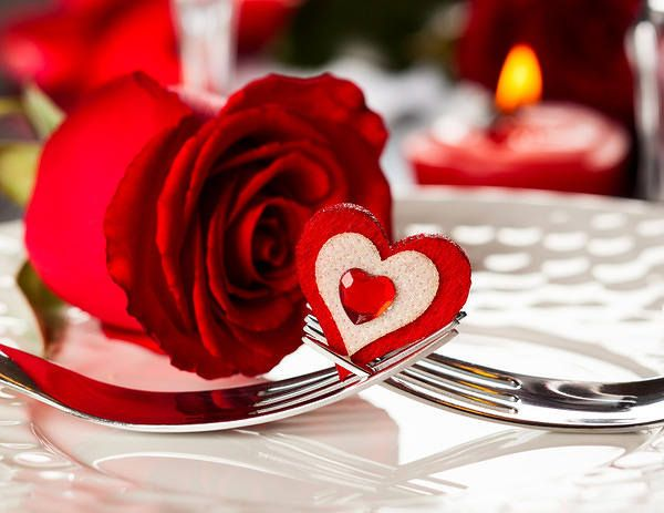Romantic Dinner Background With Roses Valentine S Day