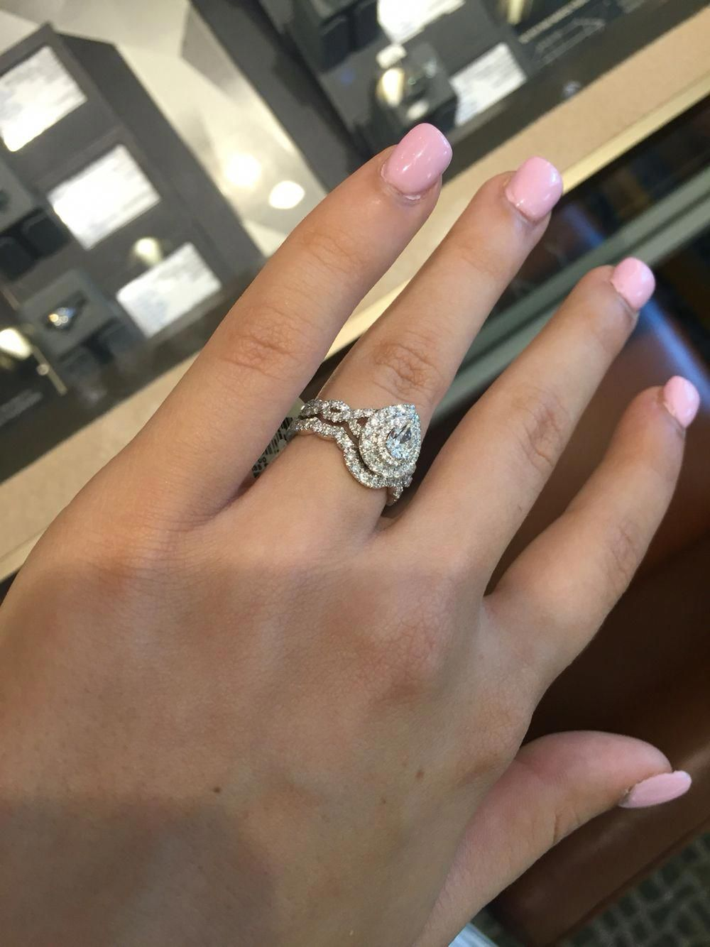 Neil Lane .5 ct with double halo and matching wedding band