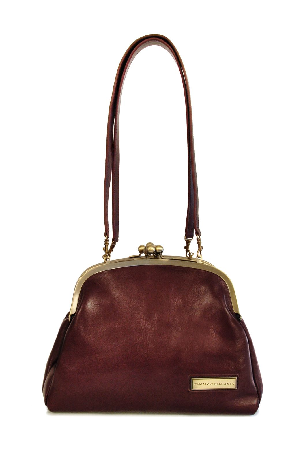 f65f30dfcd love this leather shoulder bag reminiscent of grandma s purse. rich leather  and great hardware in a sweet shape