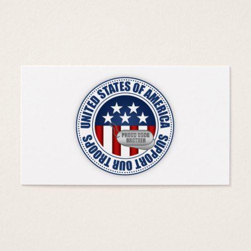 Proud Coast Guard Brother Business Card Printing Business Cards Business Card Template Coast Guard