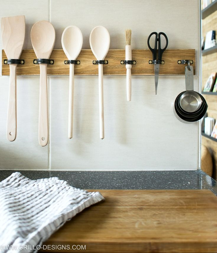 11 Super Smart Ways To Organize All Those Cooking Utensils Diy Utensils Diy Kitchen Kitchen Utensil Organization