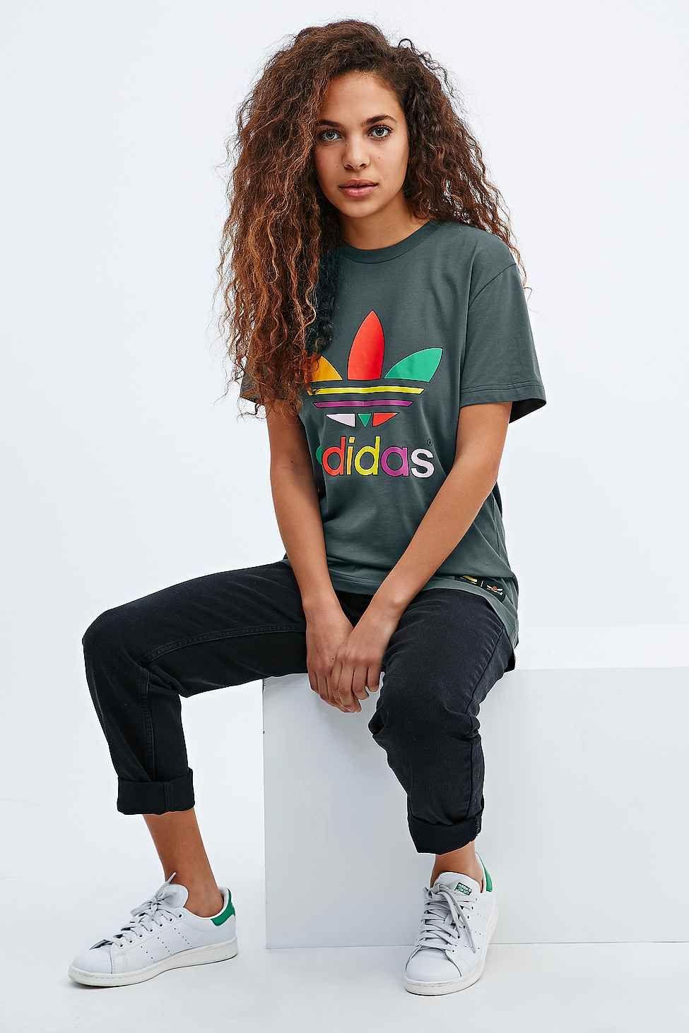 Adidas in X Pharrell Supercolor Tee in Adidas Khaki | Adidas on street 13306c
