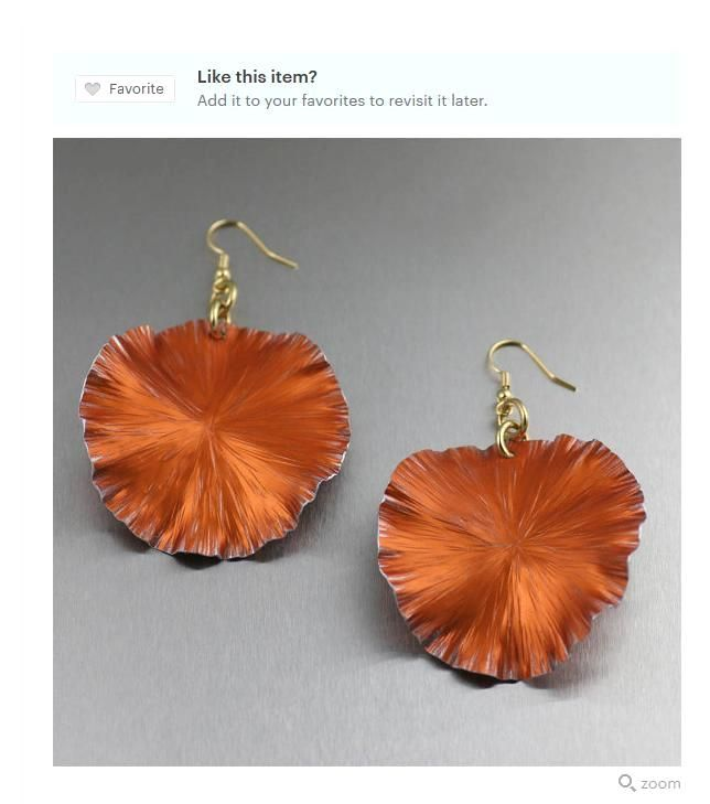 Beautiful Orange Lily Pad Aluminum Earrings Showcased on #Etsy #Aluminum #Handcrafted #Accessories https://www.etsy.com/listing/181746598