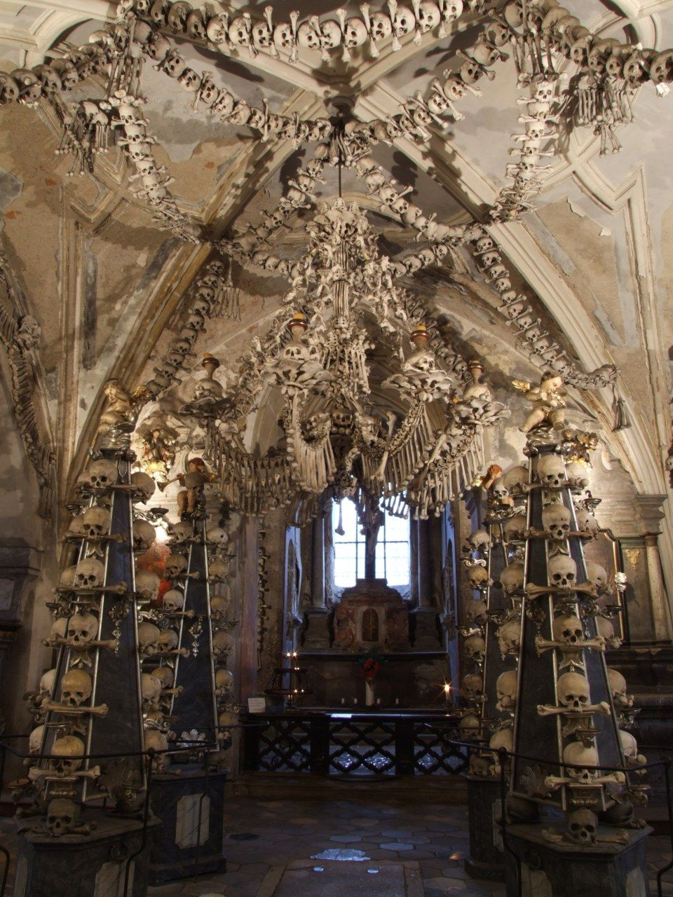 The Sedlec Ossuary in the Czech Republic contains the bones of somewhere between 40,000 and 70,000 people.