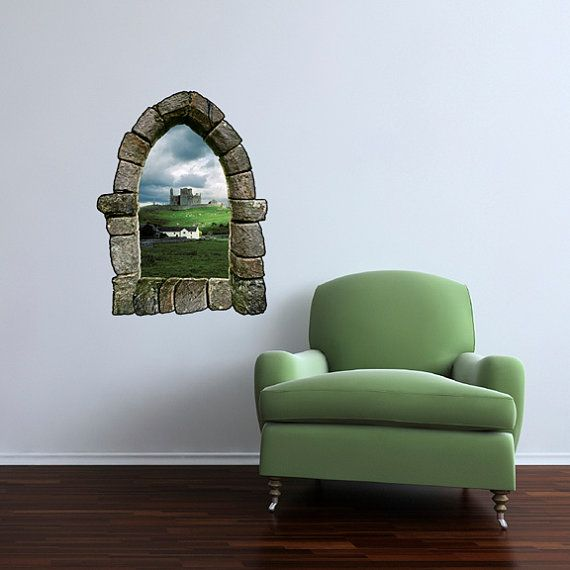 Castle Window Wall Decal Design 4 & Castle Window Wall Decal Design 4 | Home u0026 Living | Pinterest ...
