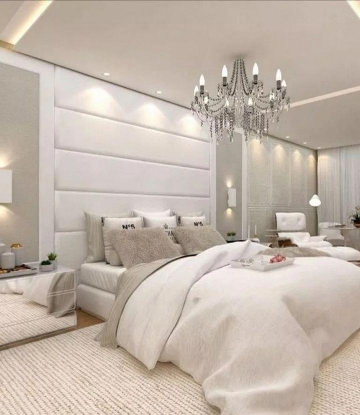 ✔️ 95 Lighting Ceiling Bedroom Ideas For Comfortable Sleep 5 Trendy Bedroom Lighting 26 #bedroomlighting #bedroomlightingceiling #bedroomdecor #recamarasbedroomideas