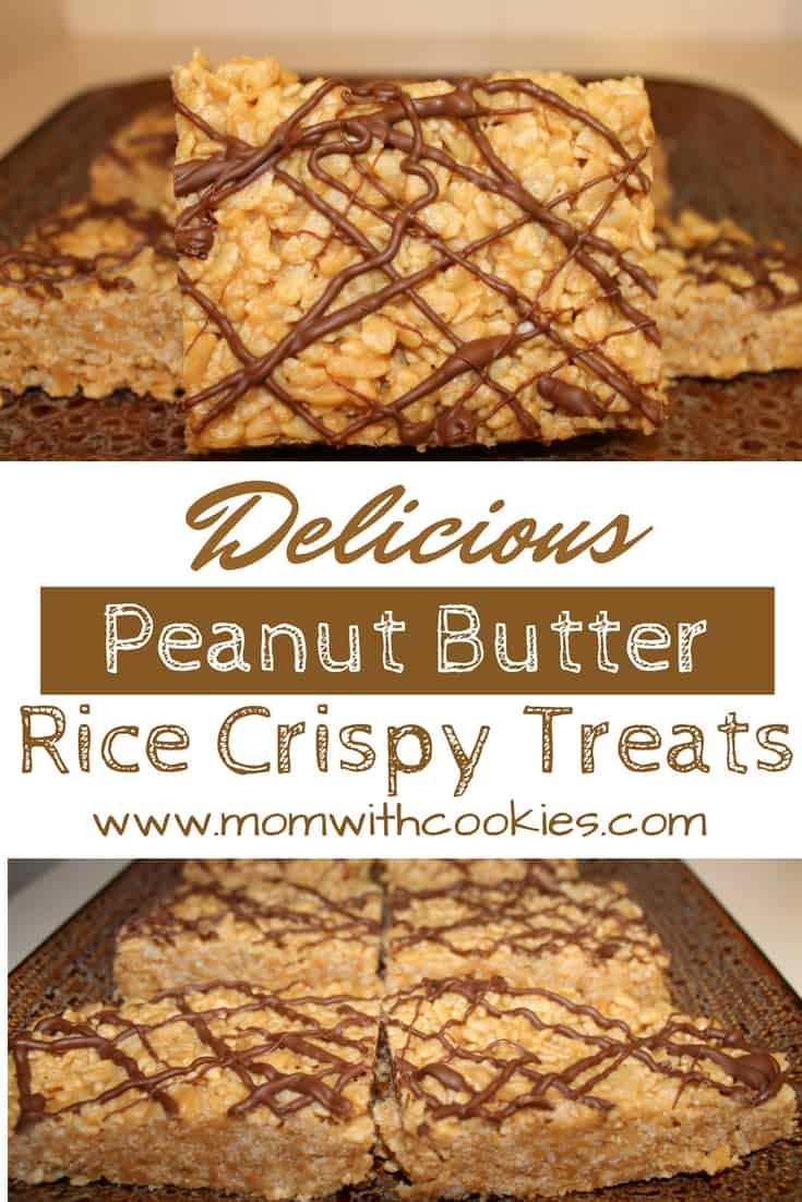 Peanut Butter Rice Crispy Treats #crispytreats