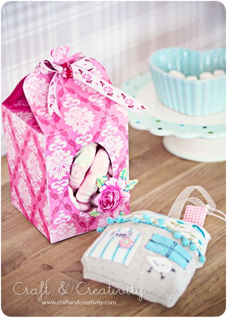 Paper gift box for Christmas or other occasions.