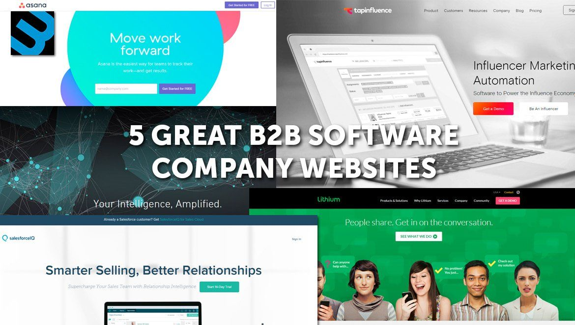 Looking For B2b Web Design Inspiration Learn From These Five B2b Software Company Websites Web Design Software Website