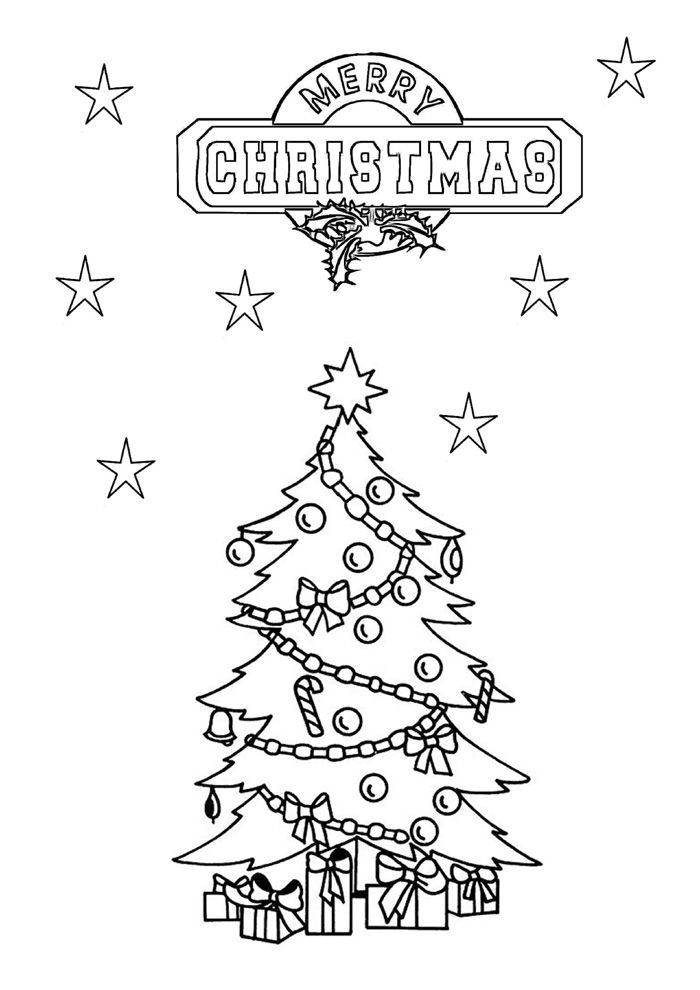 Christmas Tree Coloring Pages Procoloring