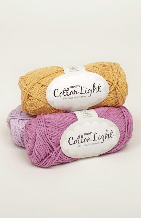 DROPS Cotton Light - Un hilo fresco de algodón para el verano ...