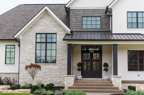 Traditional meets contemporary in this refreshing family home in Indiana #exteriordesign