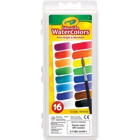 Crayola Educational Watercolor Set 16 Colors Multicolor