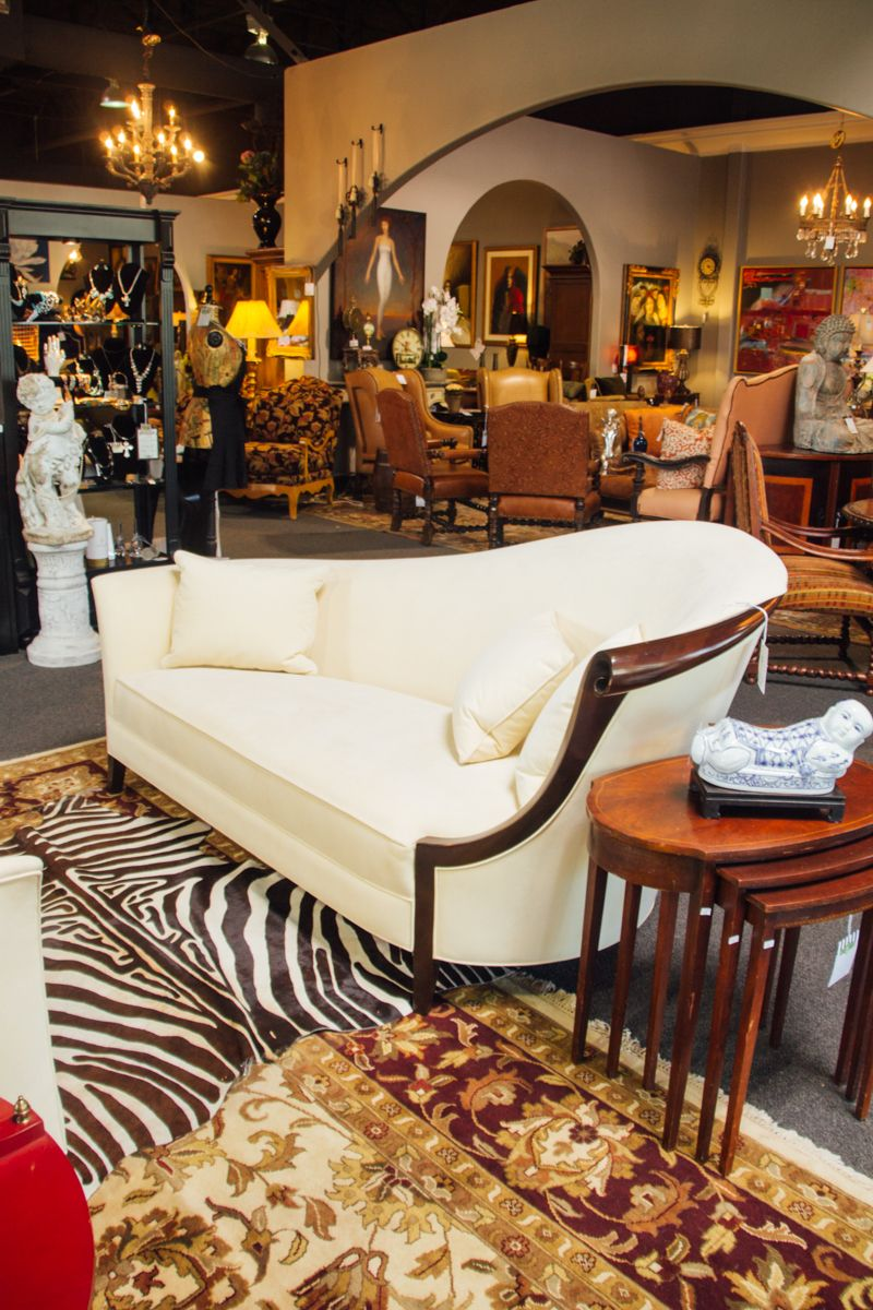 White Suede Lounger With Wooden Accents Found At Avery