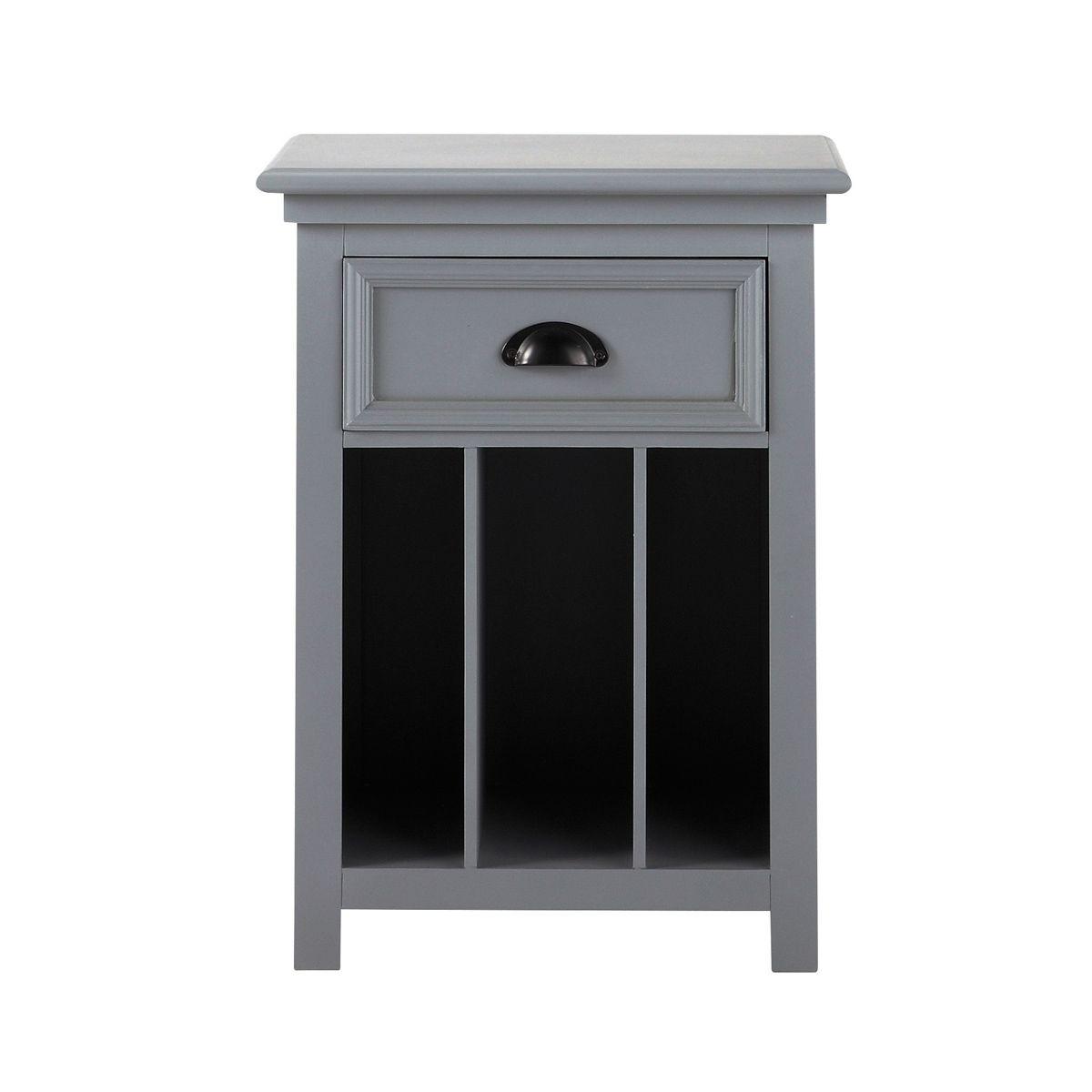 avec grise Table tiroir 45 chevet de en cm bois Newport L wNO0Pn8kX