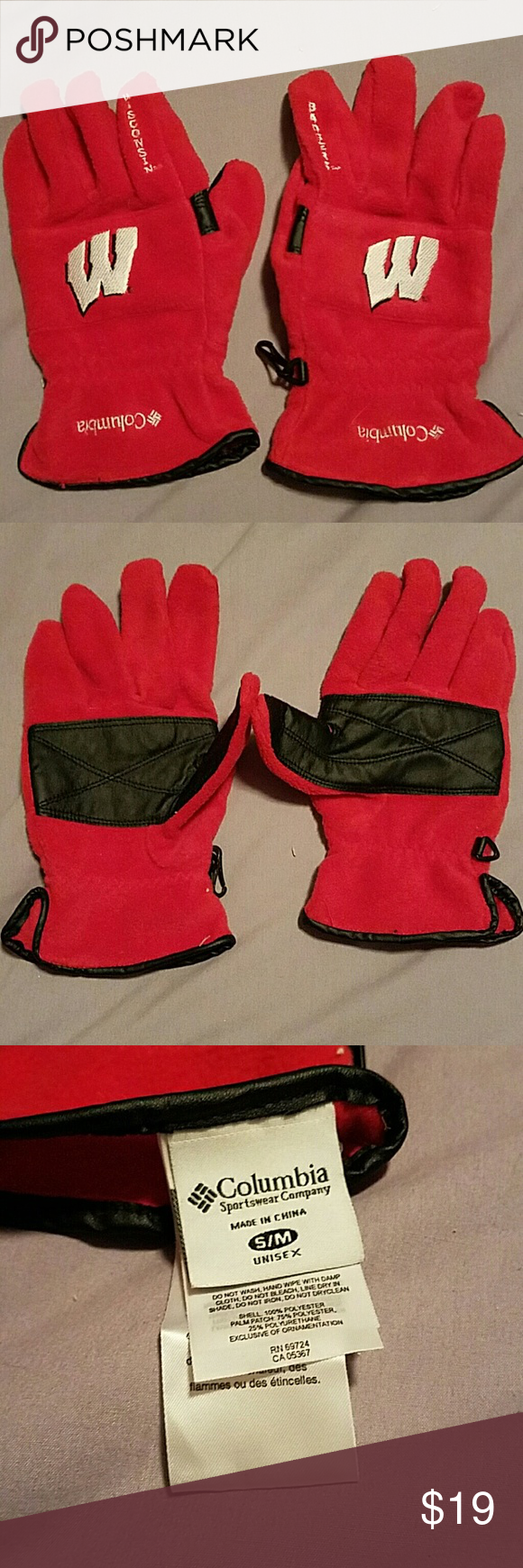 Very mens gloves - Wisconsin Badgers Columbia Gloves