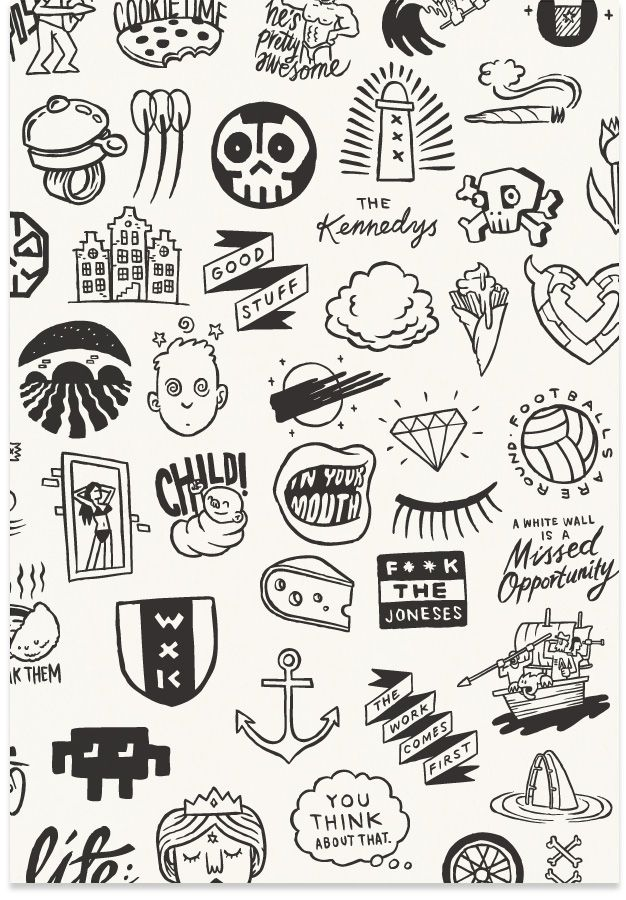 Fancy Design Blog Nz Design Blog Awesome Design From Nz The World New Zealand Sticker Design Inspiration Alice And Wonderland Tattoos Tattoo Flash Art