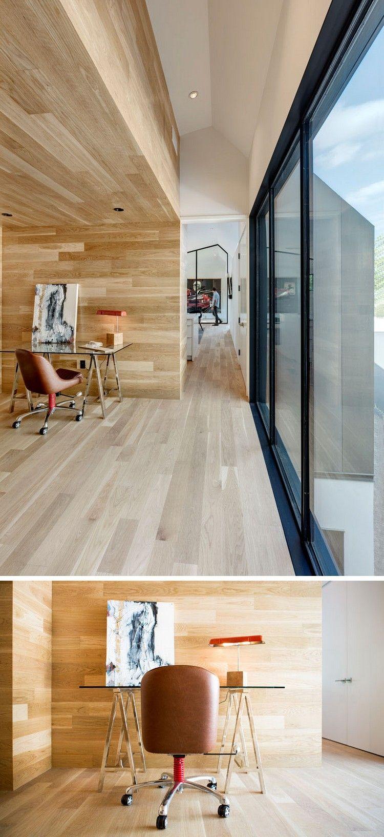 modernes home office nische wandverkleidung holz #traumhäuser #dream ...