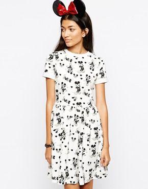 ASOS Mickey Print Skater Dress  9cb235efe