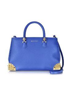 Casssiopeia Blue Leather Handbag - Philipp Plein
