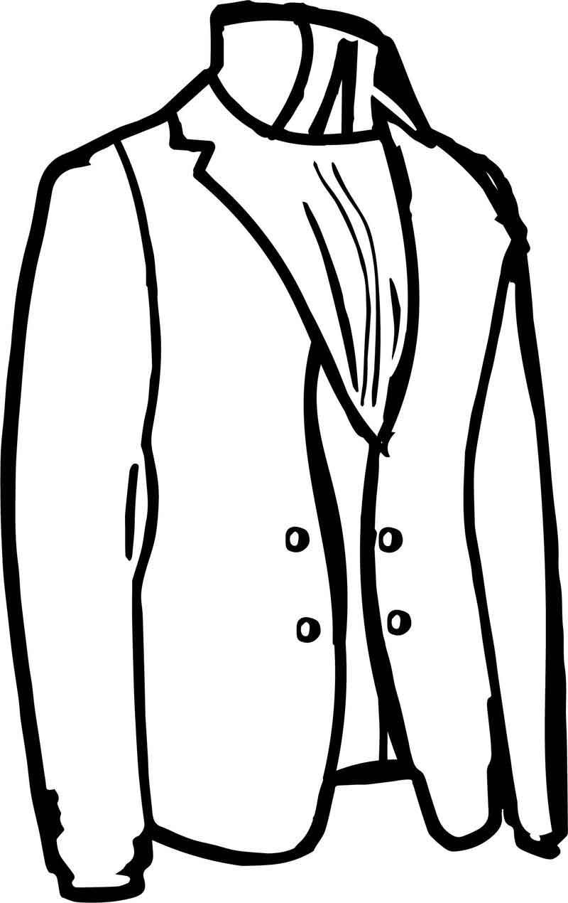 Tailor Jacket Coloring Page Tailored Jacket Coloring Pages Color