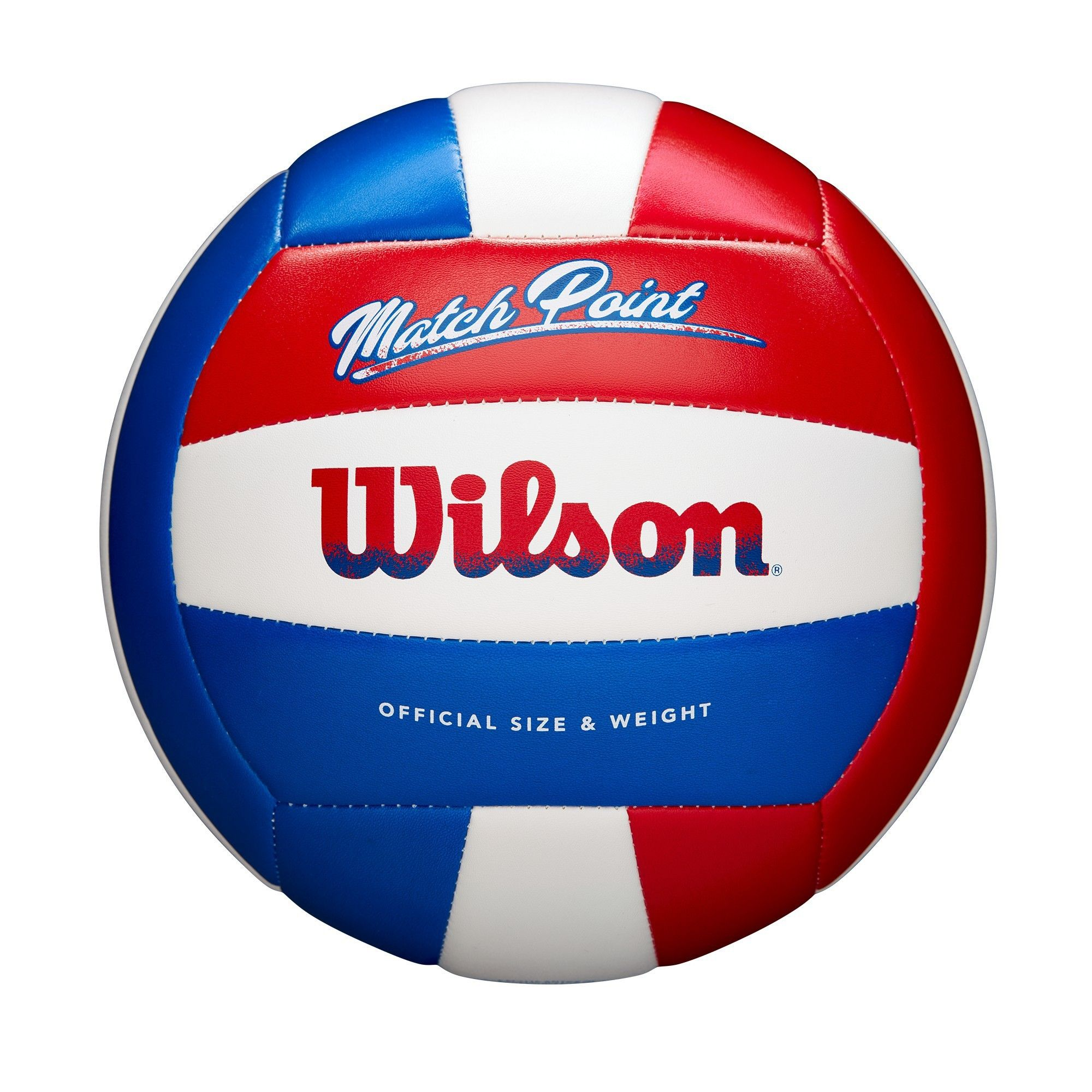 Wilson Match Point Volleyball Red White Blue Adult Unisex Match Point Red White Volleyball