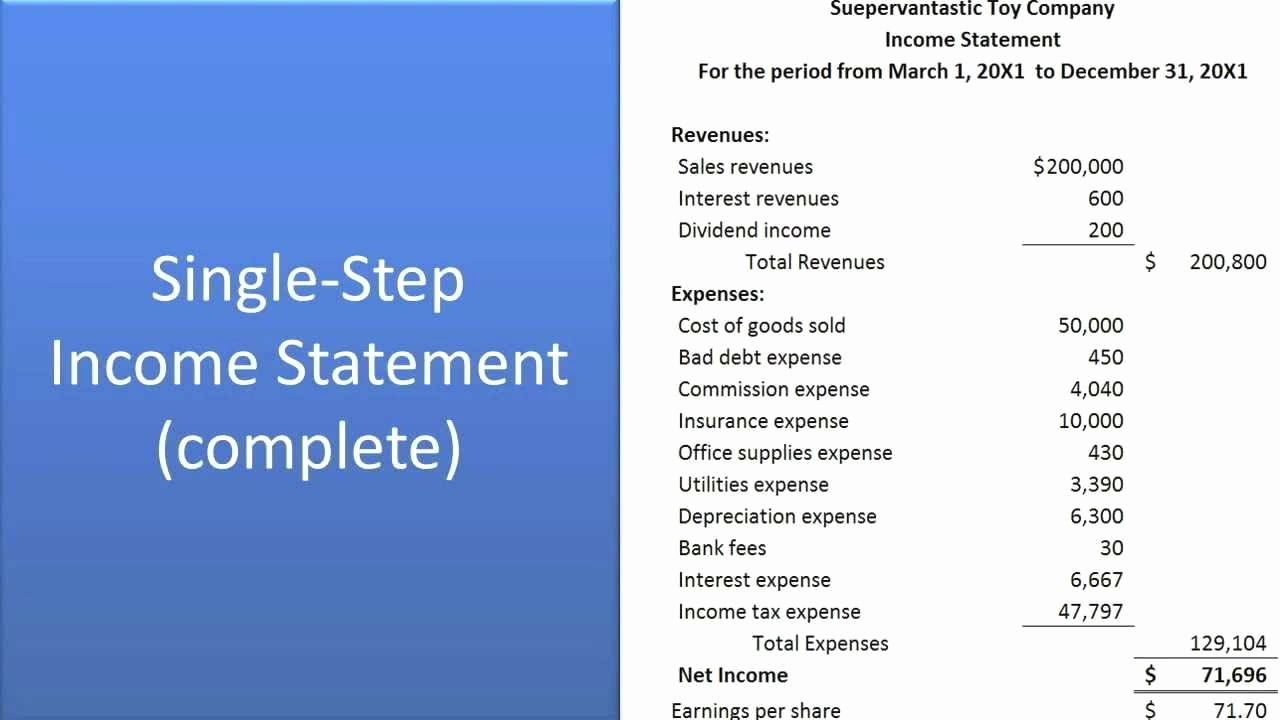 Preparation Of Financial Statements In 2020 Financial Statement Income Statement Statement