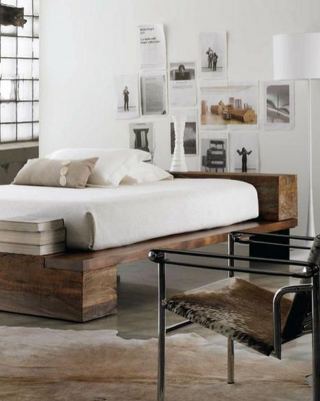 simplistic bed design in an understated bedroom