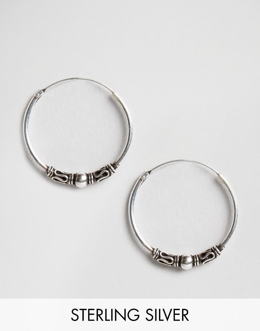 9dacebcfd Kingsley Ryan | Kingsley Ryan Sterling Silver 18MM Bali Hoop Earrings at  ASOS
